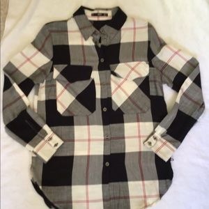 MNG PLAID BUTTON DOWN SHIRT
